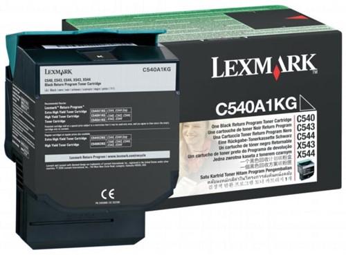 Lexmark Toner zwart return program - 1000 pagina's - C540A1KG