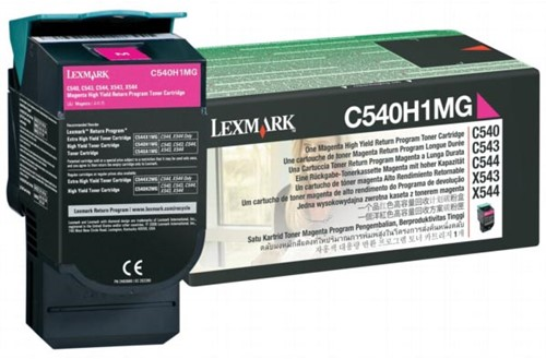 Lexmark Toner magenta return program - 1000 pagina's - C540A1MG