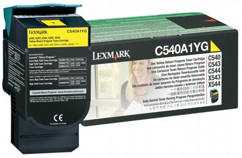 Lexmark Toner geel return program - 1000 pagina's - C540A1YG