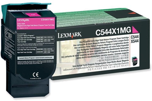Lexmark Toner magenta return program - 4000 pagina's - C544X1MG
