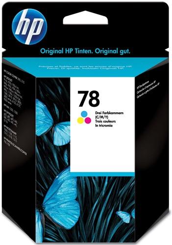 HP inktcartridge 78, 560 pagina's, OEM C6578DE, 3 kleuren