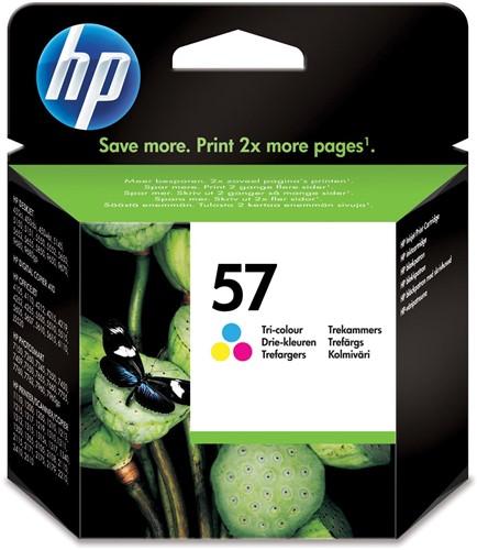 HP inktcartridge 57, 500 pagina's, OEM C6657AE, 3 kleuren