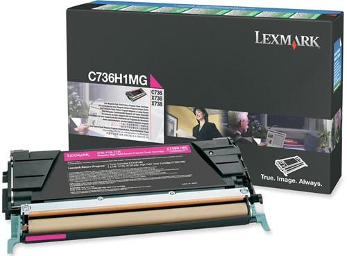 Lexmark Toner Kit magenta return program - 10000 pagina's - C736H1MG