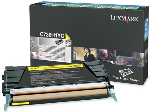 Lexmark Toner Kit geel return program - 10000 pagina's - C736H1YG