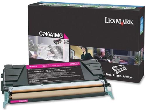 Lexmark Tonercartridge magenta return program - 7000 pagina's - C746A1MG