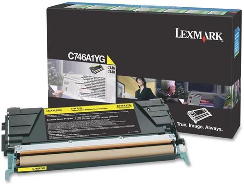 Lexmark Tonercartridge geel return program - 7000 pagina's - C746A1YG