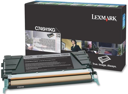Lexmark Tonercartridge zwart return program - 12000 pagina's - C746H1KG