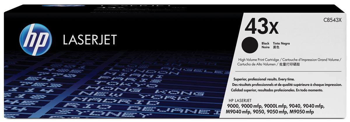 HP toner 43X, 30 000 pagina's, OEM C8543X, zwart