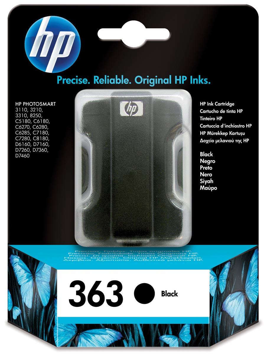 HP inktcartridge 363, 410 pagina's, OEM C8721EE, zwart
