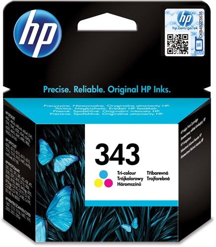HP inktcartridge 343, 330 pagina's, OEM C8766EE#301, 3 kleuren, met beveiligingssysteem