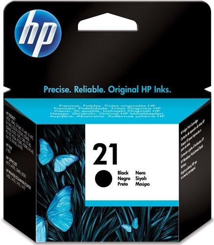 HP inktcartridge 21, 190 pagina's, OEM C9351AE, zwart