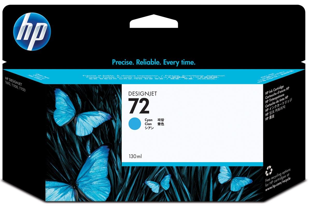 HP inktcartridge 72, 130 ml, OEM C9371A, cyaan