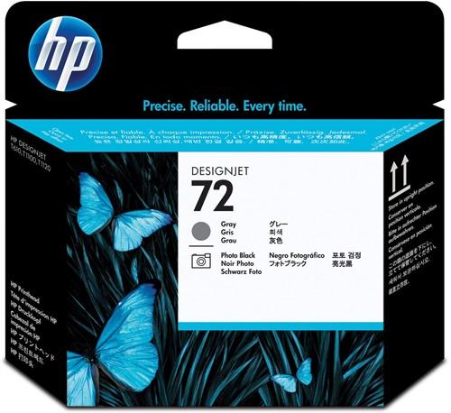 HP printkop 72, 130 ml, OEM C9380A, zwart-grijs
