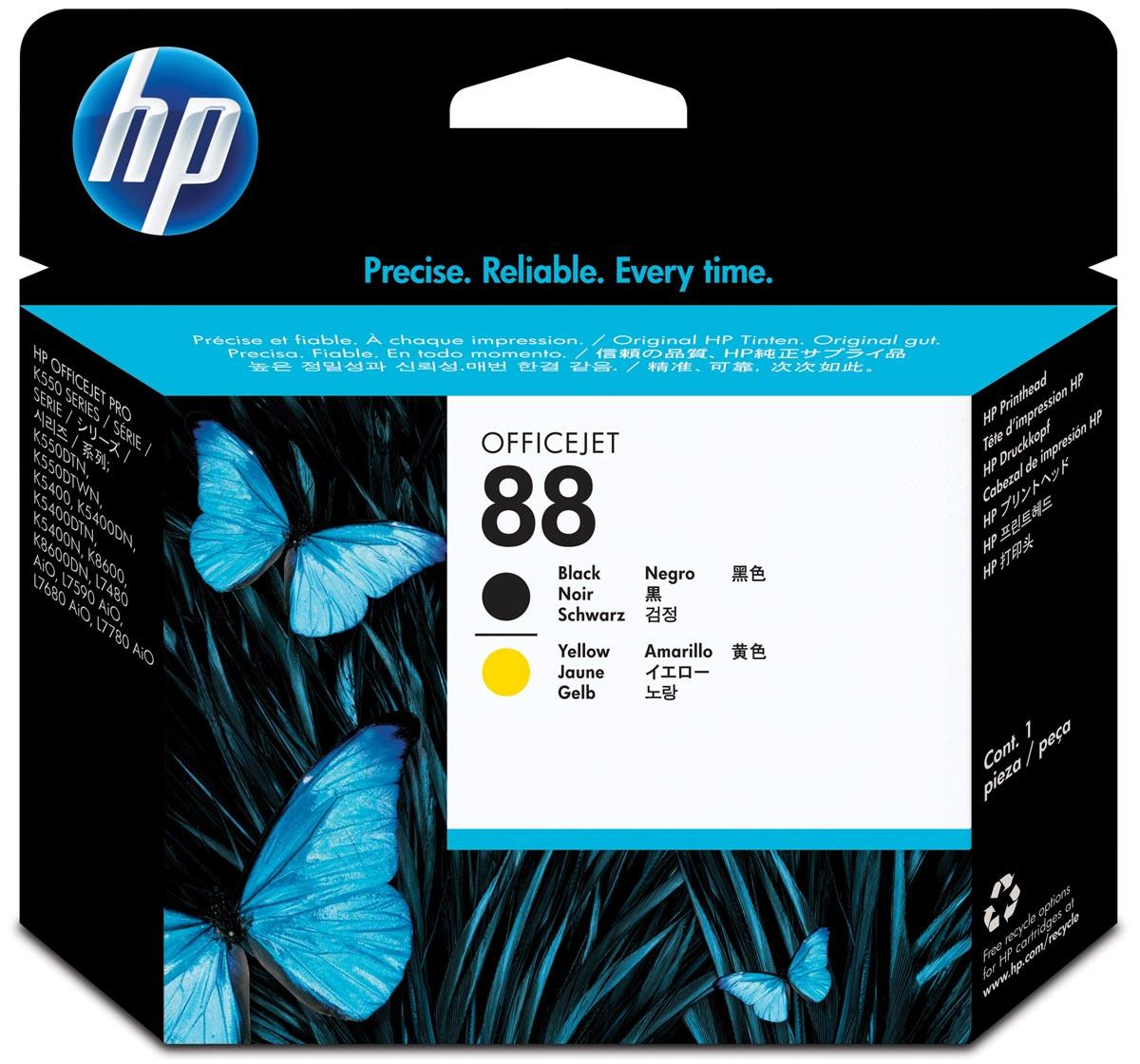 HP printkop 88, 9 000 paginas, OEM C9381A, zwart-geel
