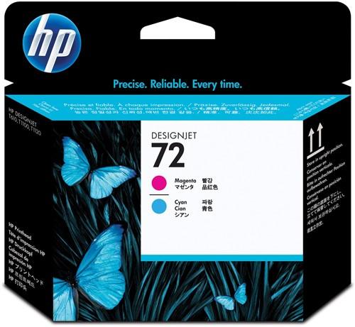 HP printkop 72, 130ml, OEM C9383A, cyaan-magenta