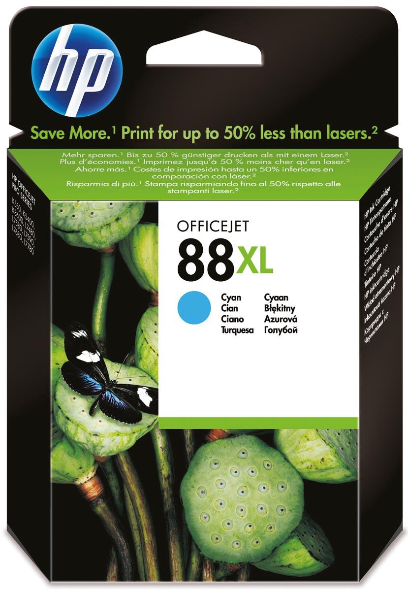 HP inktcartridge 88XL, 1 700 paginas, OEM C9391AE, cyaan