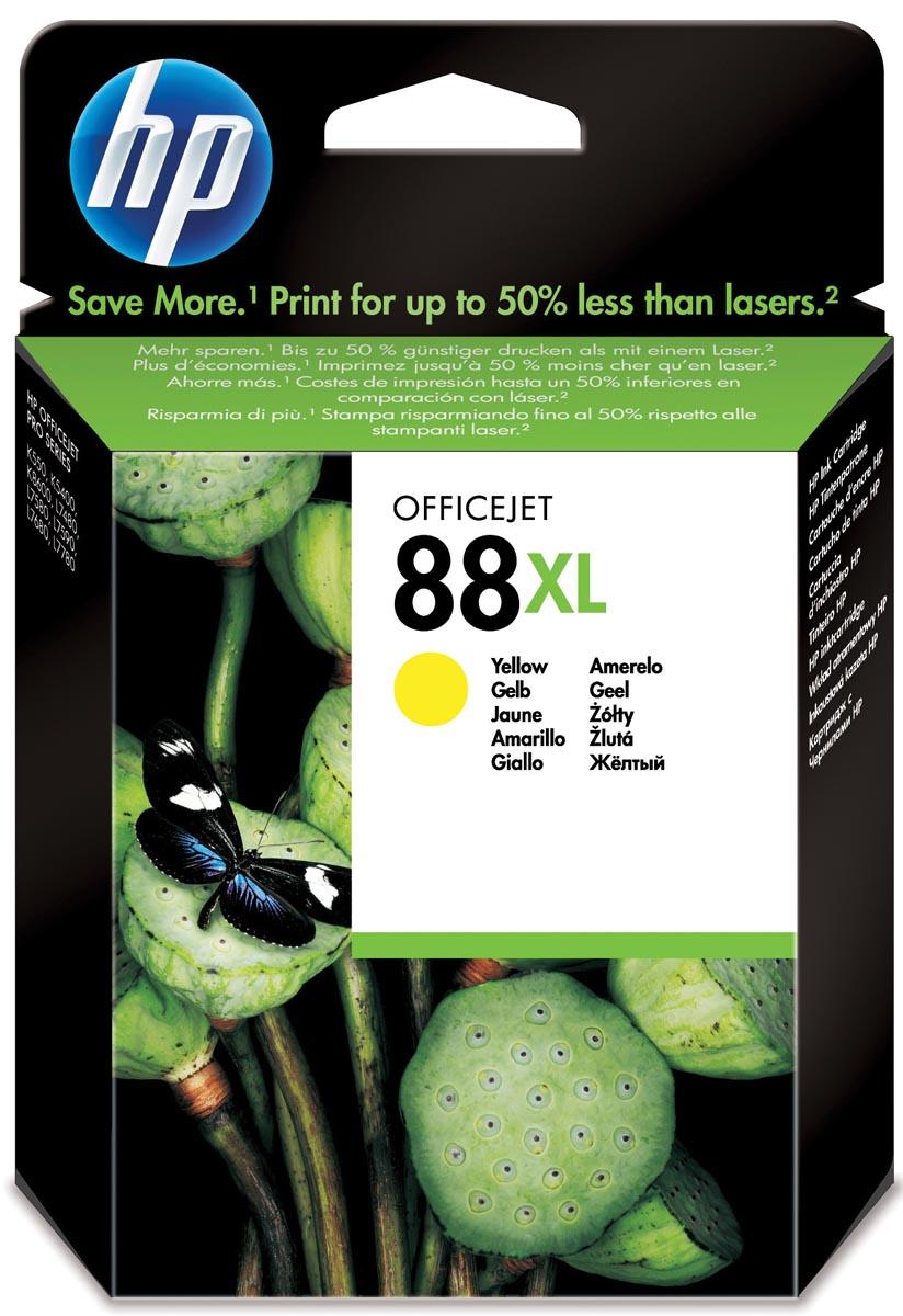 HP inktcartridge 88XL, 1 540 paginas, OEM C9393AE, geel