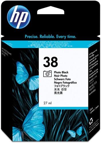 HP inktcartridge 38, 1.340 tot 1.845 foto's, OEM C9413A, zwart foto