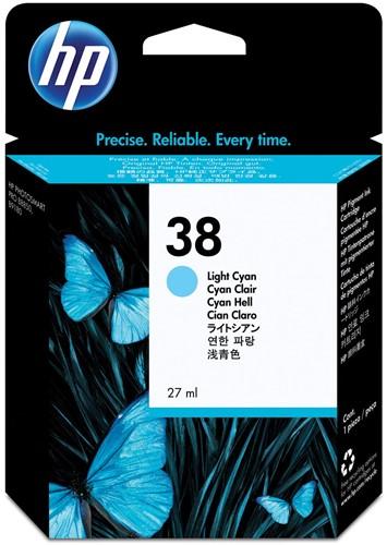 HP inktcartridge 38, 1.080 tot 1.485 foto's, OEM C9418A, licht cyaan