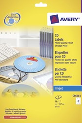 Zweck Full size etiketten voor CD/DVD voor CD, 16 etiketten, hoogglanzend, doos van 8 blad