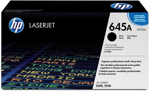 HP toner 645A, 13 000 pagina's, OEM C9730A, zwart