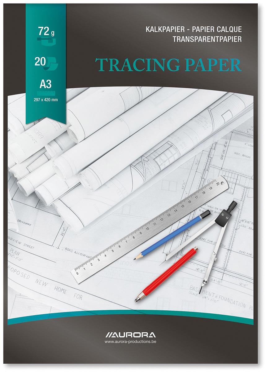 Aurora Raphaël kalkpapier, ft A3, blok van 20 vel