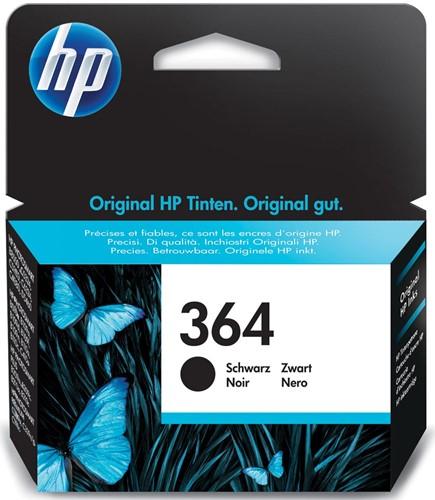 HP inktcartridge 364, 250 pagina's, OEM CB316EE, zwart
