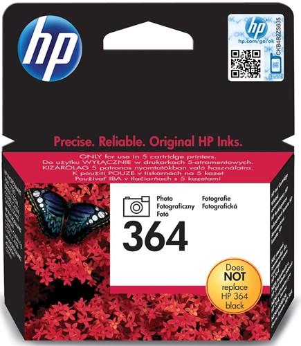 HP inktcartridge 364, 130 pagina's, OEM CB317EE, zwart foto