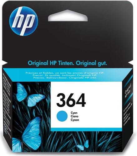 HP inktcartridge 364, 300 pagina's, OEM CB318EE, cyaan