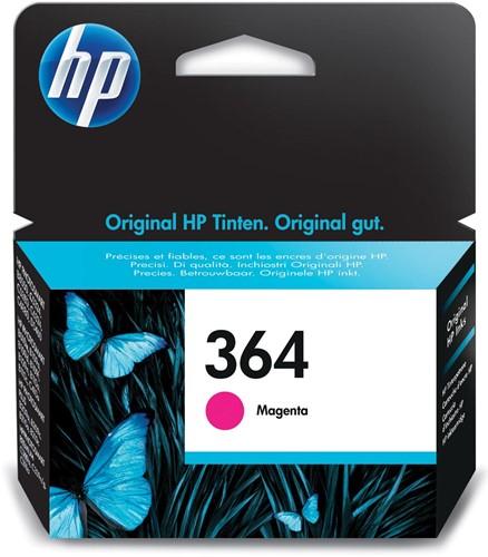 HP inktcartridge 364, 300 pagina's, OEM CB319EE, magenta