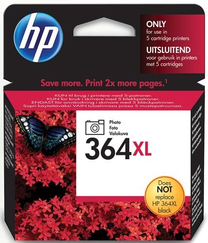 HP inktcartridge 364XL, 290 foto's, OEM CB322EE, zwart foto