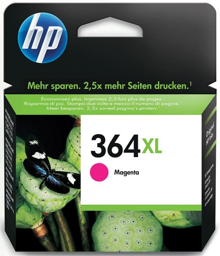 HP inktcartridge 364XL, 750 pagina's, OEM CB324EE, magenta