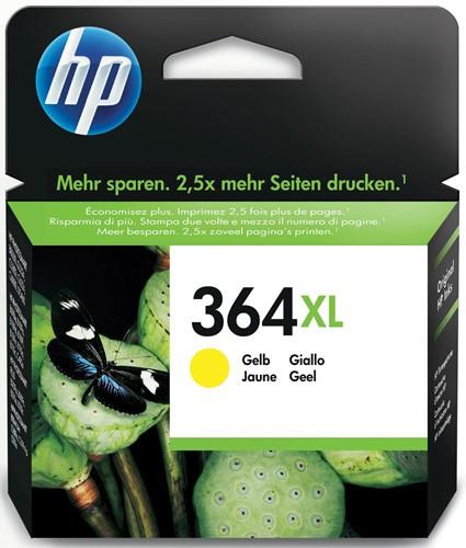 HP inktcartridge 364XL, 750 pagina's, OEM CB325EE, geel