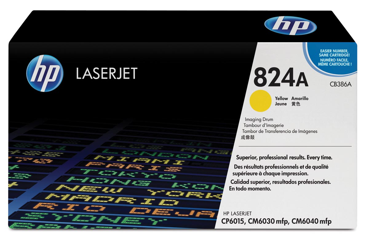 HP drum 824A, 35.000 pagina's, OEM CB386A, geel