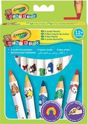 Crayola Mini Kids kleurpotloden Jumbo, ophangdoosje met 8 stuks in geassorteerde kleuren