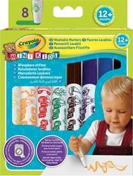 Crayola Mini Kids afwasbare viltstiften, ophangdoosje met 8 stuks in geassorteerde kleuren