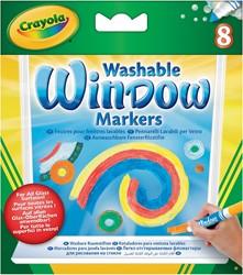 Crayola windowmarkers, ophangdoosje met 8 stuks in geassorteerde kleuren