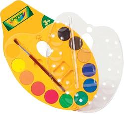 Crayola palet waterverf met 12 napjes in geassorteerde kleuren