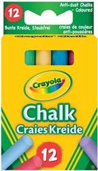 Crayola bordkrijt, doos met 12 stuks in geassorteerde kleuren