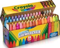 Crayola stoepkrijt, doos met 64 stuks in geassorteerde kleuren