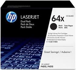 HP International Paper Tonercartridge zwart twin pack 64XD - 24000 pagina's - CC364XD