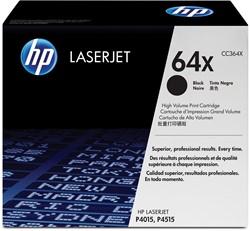 HP Tonercartridge zwart 64X - 24000 pagina's - CC364X