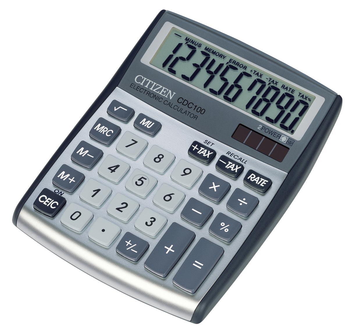 Citizen bureaurekenmachine CDC-100, zilver