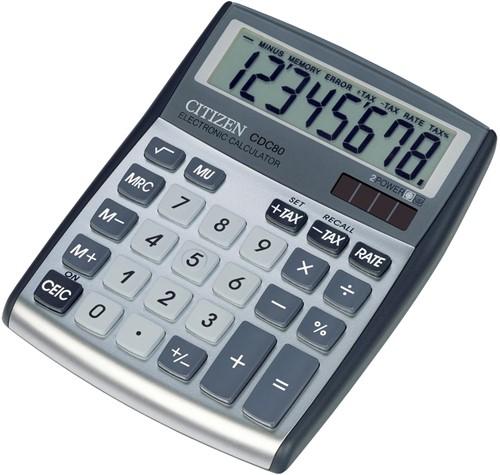 Citizen Allrounder bureaurekenmachine CDC-80, zilver