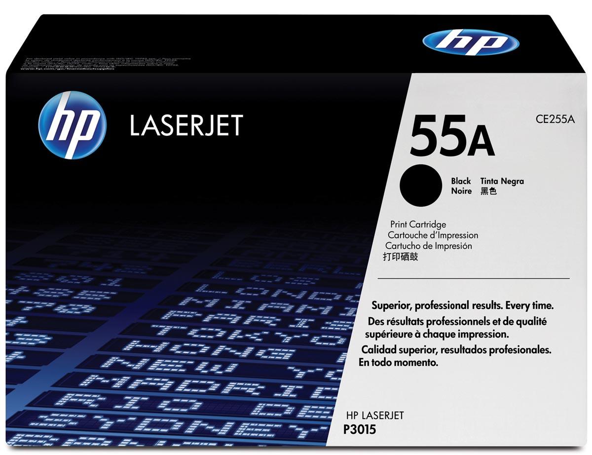 HP toner 55A, 6 000 pagina's, OEM CE255A, zwart