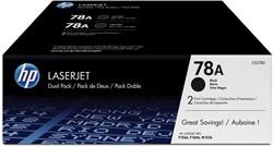 HP Tonercartridge zwart twin pack 78A - 2100 pagina's - CE278AD