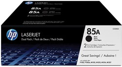 HP Tonercartridge zwart twin pack 85A - 1600 pagina's - CE285AD