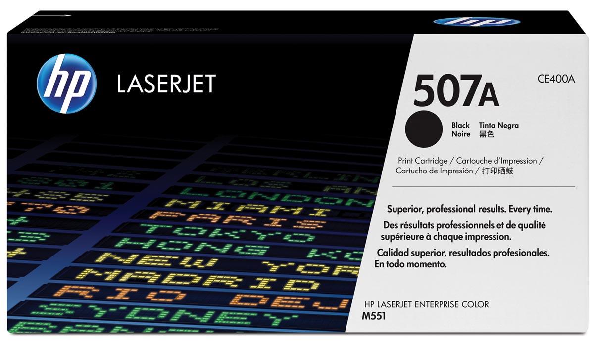 HP toner 507A, 5 500 pagina's, OEM CE400A, zwart