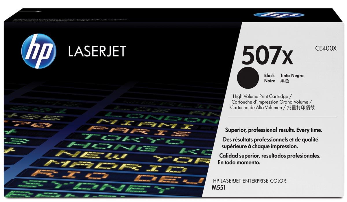 HP toner 507X, 11 000 pagina's, OEM CE400X, zwart