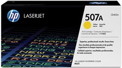 HP Tonercartridge geel 507A - 6000 pagina's - CE402A